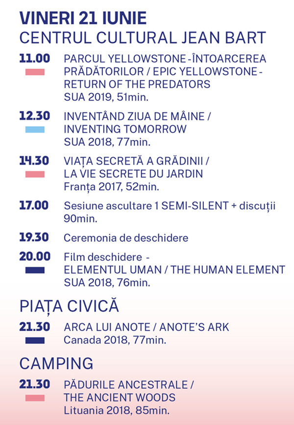 program pelicam vineri